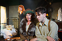 "London, UK. 05.09.2012. I AM A CAMERA, by John Van Druten, opens at Southwark Playhouse. Based on Christopher Isherwood's memoirs ""Goodbye to Berlin"" and the inspiration for the musical Cabaret. Photo shows: Rebecca Humphries (Sally Bowles), Sherry Baines (Mrs Watson-Courtneidge) and Harry Melling (Christopher Isherwood). Photo credit: Jane Hobson"