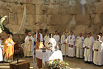 Solemn Eucharist in the Basilica of the holy place of Emmaus, celebrated by<br /> his Beatitude Mgr Fouad Twal, Latin Patriarch of Jerusalem on Easter Monday