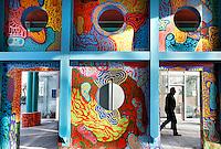 Nederland Amsterdam 2017 . De Bijlmer. Muurschildering in de H-Buurt.  Foto Berlinda van Dam / Hollandse Hoogt