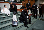 The groomsmen, ushers and flower girls wait to be photographed after the wedding.  Olympic gold medalist, Sanya Richards, and New York Giants cornerback, Aaron Ross, wed at the Hyde Park Baptist in Austin, Texas on Friday, February 26, 2010....