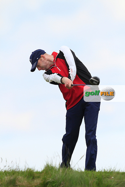 Seamus Cullen (Slieve Russell) on the 13th tee during Round 3 of the Irish Amateur Open Championship at Royal Dublin on Saturday 9th May 2015.<br /> Picture:  Thos Caffrey / www.golffile.ie