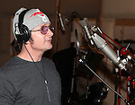 Peter Benson recording the 2012 Original Broadway Cast Recording of 'The Mystery of Edwin Drood' at the KAS Music & Sound Studios in Astoria, New York on December 10, 2012