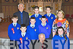 Kilmurry NS, Cordal pupils who were confirmed by Bishop Bill Murphy in St Stephen and John's church on Tuesday front row l-r: Padraig Brosnan, Chloe O'Sullivan. Middle row: Jack Flynn, Sean Brosnan, Dean Taylor, Therese Kearney teacher. Back row: Monsignor Dan O'Riordan, Dylan O'Donoghue and Kieran Enright.