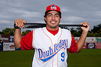 Auburn Doubledays third baseman Anthony Rendon #9 poses for a photo before game two of the semi-final round of the NY-Penn League Playoff series against the Vermont Lake Monstes at Falcon Park on September 8, 2011 in Auburn, New York.  Auburn defeated Vermont 3-2.  (Mike Janes/Four Seam Images)