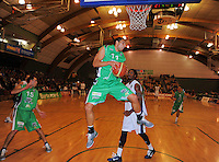 Jets forward Duane Bailey takes a defensive rebound. NBL  - Manawatu Jets  v Nelson Giants at Arena Manawatu, Palmerston North, New Zealand on Saturday, 25 June 2011. Photo: Dave Lintott / lintottphoto.co.nz