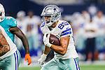 Dallas Cowboys tight end Gavin Escobar (89) in action during the pre-season game between the Miami Dolphins and the Dallas Cowboys at the AT & T stadium in Arlington, Texas.