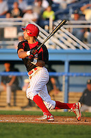 August 22 2008:  Second baseman Alex Castellanos of the Batavia Muckdogs, Class-A affiliate of the St. Louis Cardinals, during a game at Dwyer Stadium in Batavia, NY.  Photo by:  Mike Janes/Four Seam Images