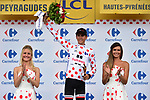 Warren Barguil (FRA) Team Sunweb retains the Polka Dot Jersey at the end of Stage 12 of the 104th edition of the Tour de France 2017, running 214.5km from Pau to Peyragudes, France. 13th July 2017.<br /> Picture: ASO/Pauline Ballet | Cyclefile<br /> <br /> <br /> All photos usage must carry mandatory copyright credit (&copy; Cyclefile | ASO/Pauline Ballet)