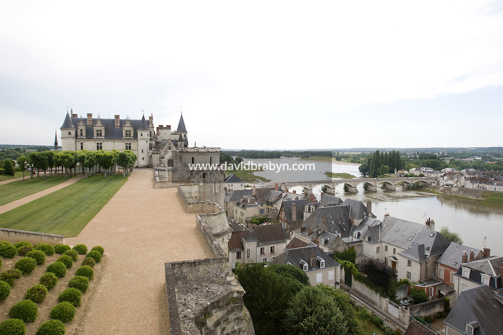 View of the Amboise castle overlooking the Loire river in France, 26 June 2008.