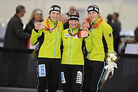 SPEEDSKATING: SALT LAKE CITY: 08-12-2017, Utah Olympic Oval, ISU World Cup, Podium Team Pursuit Ladies, Team Germany, ©photo Martin de Jong