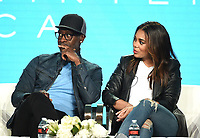 """PASADENA, CA - JANUARY 31: Don Cheadle and Regina Hall of """"Black Monday"""" attend the Showtime portion of the 2019 Television Critics Association Winter Press Tour at the Langham Huntington on January 31, 2019, in Pasadena, California. (Photo by Frank Micelotta/PictureGroup)"""