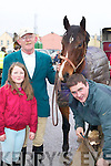 Preparing their horse at the hunt in Killorglin on Sunday were l-r: Niamh O'Sullivan, Jack Ahern Currans and Jamie Chawke Tralee.   Copyright Kerry's Eye 2008