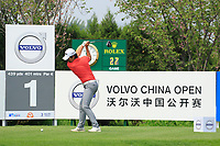Soomin Lee (KOR) in action during the final round of the Volvo China Open played at Topwin Golf and Country Club, Huairou, Beijing, China 26-29 April 2018.<br /> 29/04/2018.<br /> Picture: Golffile | Phil Inglis<br /> <br /> <br /> All photo usage must carry mandatory copyright credit (&copy; Golffile | Phil Inglis)