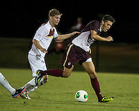 The Winthrop University Eagles played the College of Charleston Cougars at Eagles Field in Rock Hill, SC.  College of Charleston broke the 1-1 tie with a goal in the 88th minute to win 2-1.  Magnus Thorsson (8), Jake Currie (10)
