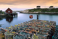 Peggy's Cove, Fishing Village and Lobster Traps, Nova Scotia, Canada