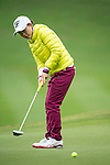 Li Jiayun of China putts during Round 1 of the World Ladies Championship 2016 on 10 March 2016 at Mission Hills Olazabal Golf Course in Dongguan, China. Photo by Victor Fraile / Power Sport Images