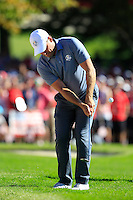 Lee Westwood (ENG) (Team USA) on the 16th green during Sunday Singles matches at the Ryder Cup, Hazeltine National Golf Club, Chaska, Minnesota, USA.  02/10/2016<br /> Picture: Golffile | Fran Caffrey<br /> <br /> <br /> All photo usage must carry mandatory copyright credit (&copy; Golffile | Fran Caffrey)