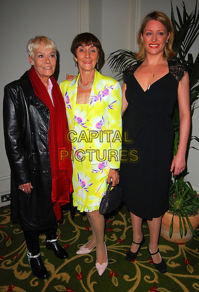 WENDY RICHARD, JUNE BROWN & LAURIE BRETT.June Brown Tribute Luncheon, Grosvenor House, London, UK..October 15th, 2006.Ref: CAN.full length black dress leather jacket yellow purple floral print skirt.www.capitalpictures.com.sales@capitalpictures.com.©Can Nguyen/Capital Pictures