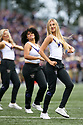 SEATTLE, WA - SEPTEMBER 14: Washington Cheer member Danielle McGinnis entertained fans during the college football game between the Washington Huskies and the Hawaii Rainbow Warriors on September 14, 2019 at Husky Stadium in Seattle, WA.