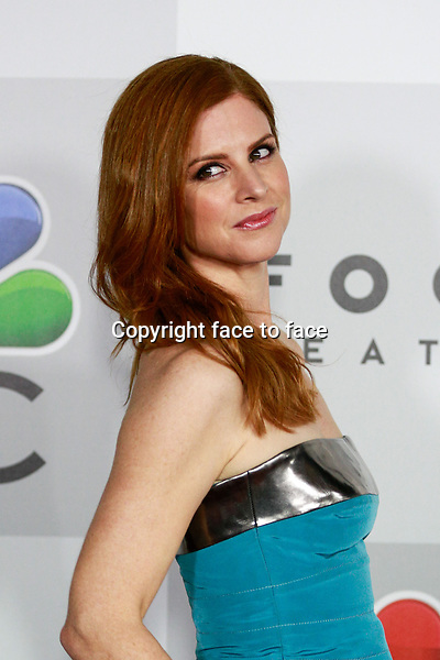 BEVERLY HILLS, CA - JANUARY 12: Sarah Rafferty arrives at the 71st Golden Globe Awards: Universal, NBC, Focus Features, E! sponsored by Chrysler viewing and after party held at The Beverly Hilton Hotel in Beverly Hills, CA on January, 12, 2014.<br /> Credit: MediaPunch/face to face<br /> - Germany, Austria, Switzerland, Eastern Europe, Australia, UK, USA, Taiwan, Singapore, China, Malaysia, Thailand, Sweden, Estonia, Latvia and Lithuania rights only -