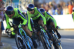 Euskadi Murias in action during Stage 1 of La Vuelta 2019, a team time trial running 13.4km from Salinas de Torrevieja to Torrevieja, Spain. 24th August 2019.<br /> Picture: Eoin Clarke | Cyclefile<br /> <br /> All photos usage must carry mandatory copyright credit (© Cyclefile | Eoin Clarke)