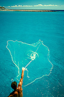 Hand net fishing, Sea of Cortez, Mexico