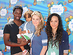 SANTA MONICA, CA. - March 14: Harold Perrineau, Wynter Perrineau, Aurora Perrineau and wife Brittany Perrineau attend the Make-A-Wish Foundation's Day of Fun hosted by Kevin & Steffiana James held at Santa Monica Pier on March 14, 2010 in Santa Monica, California.