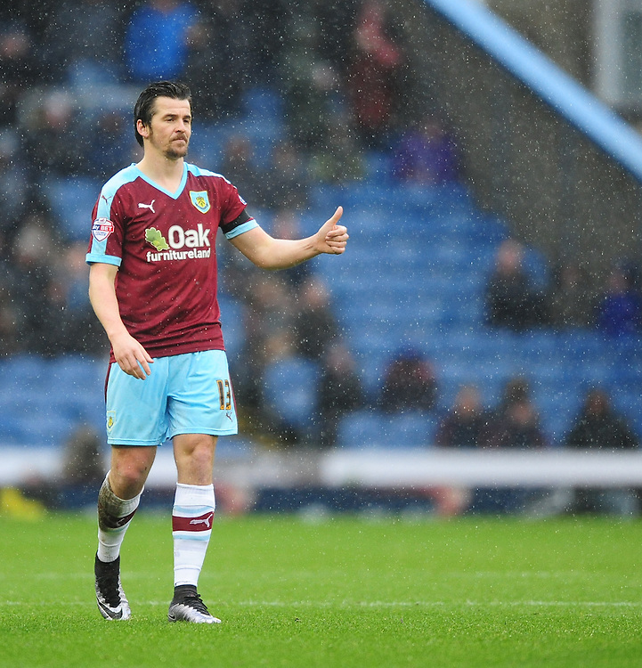 Burnley&rsquo;s Joey Barton<br /> <br /> Photographer Chris Vaughan/CameraSport<br /> <br /> Football - The Football League Sky Bet Championship - Burnley v Hull City - Saturday 6th February 2016 - Turf Moor - Burnley <br /> <br /> &copy; CameraSport - 43 Linden Ave. Countesthorpe. Leicester. England. LE8 5PG - Tel: +44 (0) 116 277 4147 - admin@camerasport.com - www.camerasport.com