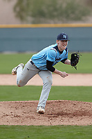 Austin Phillips (17) of Frenship High School in Lubbock, Texas during the Under Armour All-American Pre-Season Tournament presented by Baseball Factory on January 14, 2017 at Sloan Park in Mesa, Arizona.  (Kevin C. Cox/MJP/Four Seam Images)