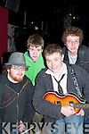 "Plugged- Playing at the Rock For Experience at Benners Hotel last Saturday were group ""Edison"".Front L-R Ciaran Concannon, Brian O' Donoghue. BACK L-R Ronan Kealy and Hugh O' Donoghue.   Copyright Kerry's Eye 2008"