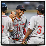 #OTD On This Day, May 27, 2018, Denyi Reyes (41) of the Greenville Drive used just 92 pitches to post a nine-inning complete-game 3-0 shutout against the Columbia Fireflies at Spirit Communications Park in Columbia, South Carolina. It was the first complete-game shutout in the South Atlantic League that season. Today he remains a top Boston prospect. (Tom Priddy/Four Seam Images) #MiLB #OnThisDay #MissingBaseball #nobaseball #stayathome #minorleagues #minorleaguebaseball #Baseball #SallyLeague #AloneTogether