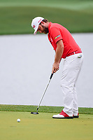 Andy Sullivan (ENG) barely misses his putt on 3 during round 4 of the Shell Houston Open, Golf Club of Houston, Houston, Texas, USA. 4/2/2017.<br /> Picture: Golffile | Ken Murray<br /> <br /> <br /> All photo usage must carry mandatory copyright credit (&copy; Golffile | Ken Murray)