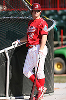 May 29th 2008:  Brad Harman of the Reading Phillies, Class-AA affiliate of the Philadelphia Phillies, during a game at Jerry Uht Park in Erie, PA.  Photo by:  Mike Janes/Four Seam Images