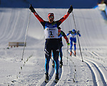 Students competes during the cross country Men 30 km Classic Mass Start event as part of the Winter Universiade Trentino 2013 on 21/12/2013 in Lago Di Tesero, Italy.<br /> <br /> &copy; Pierre Teyssot - www.pierreteyssot.com