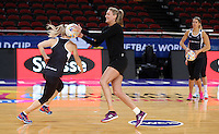 04.08.2015 Silver Ferns Leana de Bruin during Silver Ferns training ahead of the 2015 Netball World Champs at All Phones Arena in Sydney, Australia. Mandatory Photo Credit ©Michael Bradley.