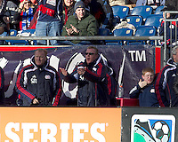 New England Revolution head coach Steve Nicol with an opinion. In a Major League Soccer (MLS) match, the New England Revolution defeated DC United, 2-1, at Gillette Stadium on March 26, 2011.