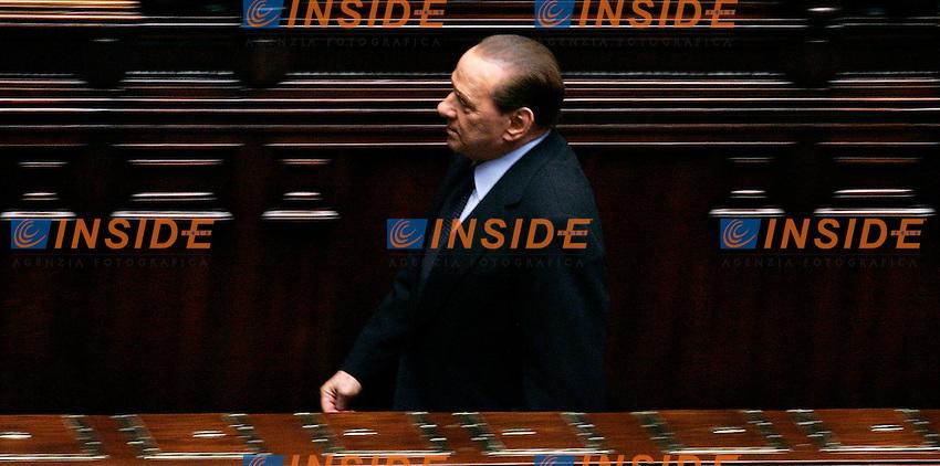 SILVIO BERLUSCONI.Roma 25/02/2011 Camera, Voto di Fiducia sul decreto Milleproroghe..Lower chamber - votation.Photo Zucchi Insidefoto