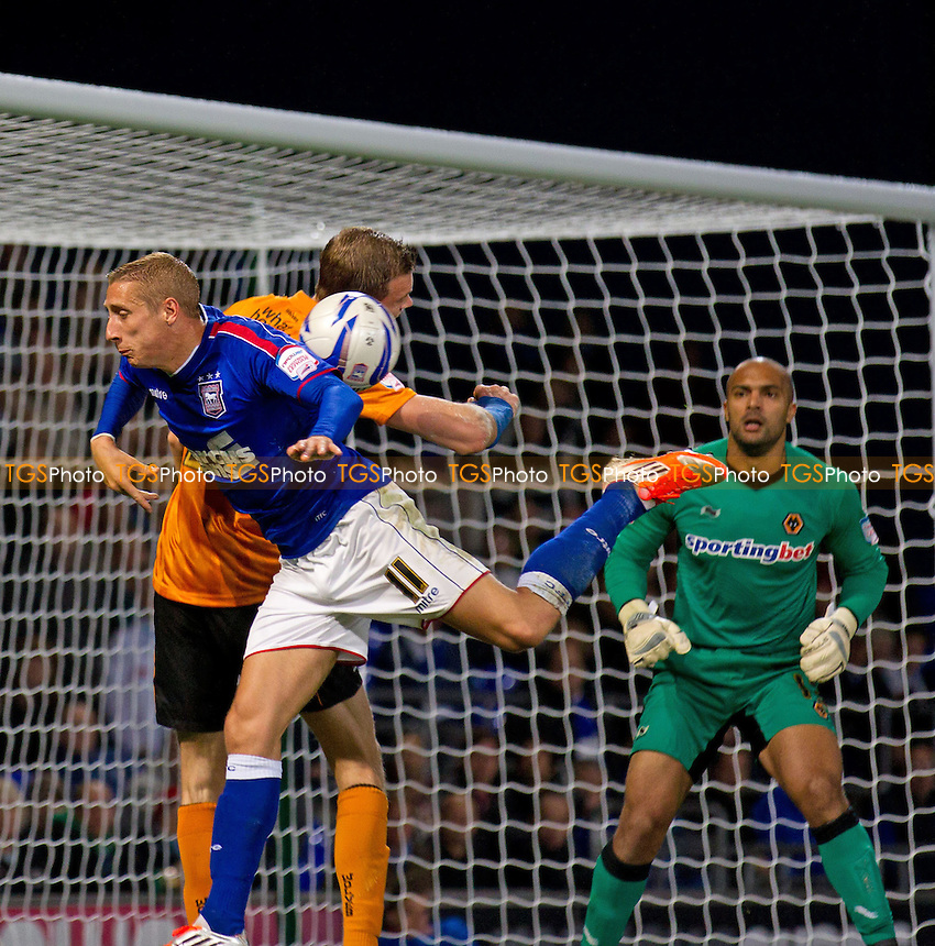 An Ipswich chance goes begging as a cross hits Lee Martin, Ipswich Town FC - Ipswich Town vs Wolverhampton Wanderers - NPower Championship Football at Portman Road, Ipswich, Suffolk - 19/09/12 - MANDATORY CREDIT: Ray Lawrence/TGSPHOTO - Self billing applies where appropriate - 0845 094 6026 - contact@tgsphoto.co.uk - NO UNPAID USE.