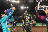 SX 2 / round winners shoe-e's<br /> 2018 SX Open - Sydney <br /> Australian Supercross Championships<br /> Qudos Bank Area / Sydney Aus<br /> Saturday Nov 10th 2018<br /> &copy; Sport the library/ Jeff Crow / AME