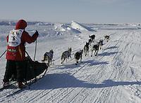 Aliy Zirkle on the Bering Sea nearing Nome