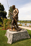 Bronze statue of Tom McCall in Salem's Riverfront Park, Oregon