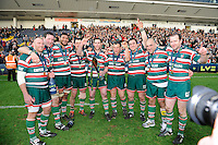 Leicester Tigers players celebrate winning the LV= Cup Final match between Leicester Tigers and Northampton Saints at Sixways Stadium, Worcester on Sunday 18 March 2012 (Photo by Rob Munro, Fotosports International)