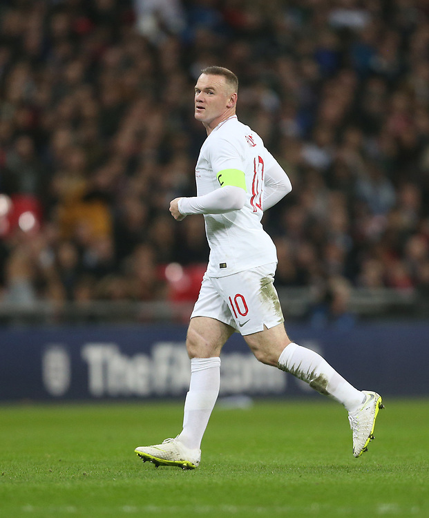 England's Wayne Rooney <br /> <br /> Photographer Rob Newell/CameraSport<br /> <br /> The Wayne Rooney Foundation International - England v United States - Thursday 15th November 2018 - Wembley Stadium - London<br /> <br /> World Copyright © 2018 CameraSport. All rights reserved. 43 Linden Ave. Countesthorpe. Leicester. England. LE8 5PG - Tel: +44 (0) 116 277 4147 - admin@camerasport.com - www.camerasport.com