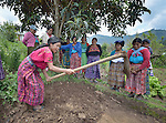 Maria Valentina Lopez and other Maya women participate in a workshop at an eco-agricultural training center in Comitancillo, Guatemala. The center is sponsored by the Maya Mam Association for Investigation and Development (AMMID).