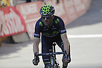 Alejandro Valverde (ESP) Movistar crosses the finish line on Il Campo in Siena to finish 3rd at the end of the 2014 Strade Bianche race over the white dusty gravel roads of Tuscany running 200km from San Gimignano to Siena, Italy. 8th March 2014.<br /> Picture: Eoin Clarke www.newsfile.ie