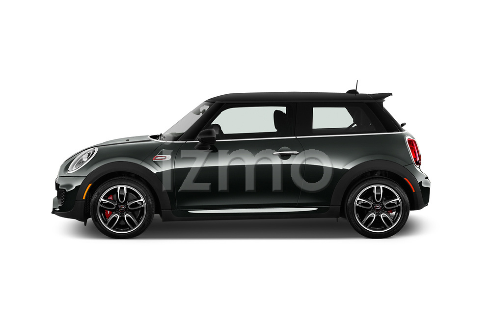 Car Driver side profile view of a 2019 MINI Cooper John-Cooper-Works-Hardtop Door Hatchback Side View