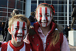Young Southampton fans with painted faces - Barclays Premier League - Southampton vs Manchester City - St Mary's Stadium - Southampton - England - 30th November 2014 - Pic Robin Parker/Sportimage