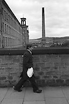 Salts Mill. Male factory worker Saltaire, near Shipley, Bradford, West Yorkshire England 1981<br /> <br /> 16x12 PARIS 2015 LES DOUCHES LA GALERIE <br /> <br /> THIS ARE MEDIUM RES FILES ONLY FOR REFERENCE AND SHOULD NOT BE SENT OUT THEY OPEN AT 11MGB