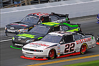 Brad Keselowski (#22), Kenny Wallace (#09) and Robert Richardson, Jr. (#23)