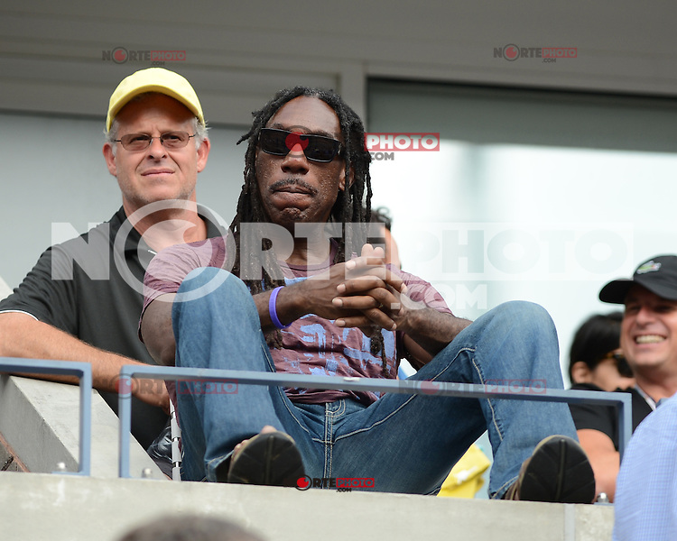 FLUSHING NY- SEPTEMBER 5: Boyd Tinsley is sighted watching the Sharapova Vs Bertoli match on Arthur Ashe stadium at the USTA Billie Jean King National Tennis Center on September 5, 2012 in in Flushing Queens. Credit: mpi04/MediaPunch Inc. ***NO NY NEWSPAPERS*** /NortePhoto.com<br />